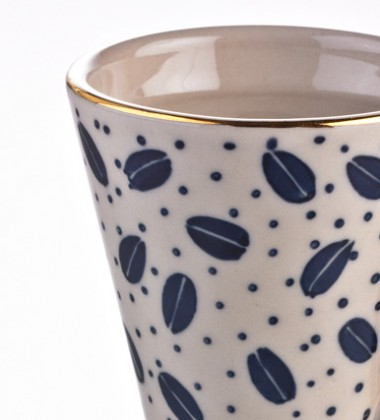 COFFEE CUP PAINTED PATTERN WITHOUT PLATES 4PACK