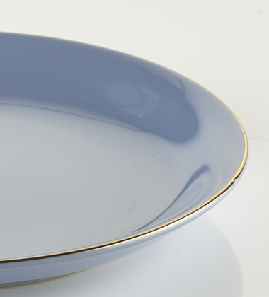 SMALL PLATES WITH GOLD EDGE LIGHT BLUE