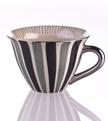 TEACUP STRIPES BLACK/GREY