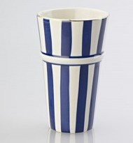 LATTE MUG WIDE STRIPE BLUE