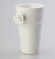 LATTE MUG WITH ROSE WHITE