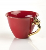 TEACUP WITH ROSE RED