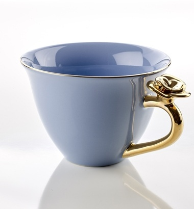 TEACUP WITH ROSE BLUE