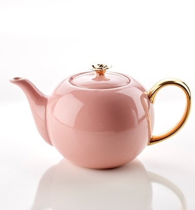 TEAPOT WITH ROSE PINK