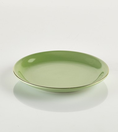 SMALL PLATES WITH GOLD EDGE GREEN
