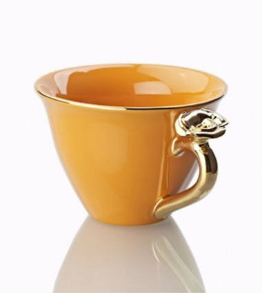 TEACUP WITH ROSE ORANGE